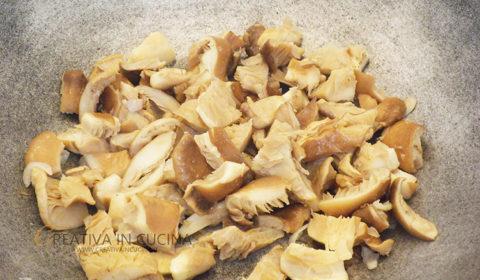 Linguine gustose ai cardoncelli ricetta di Creativaincucina