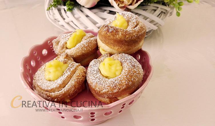 Cruffin realizzati con pasta di Croissant Creativaincucina