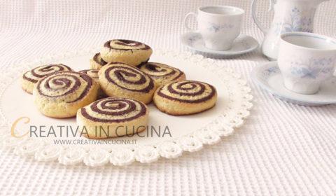 Girelle di pasta frolla al cioccolato ricetta di Creativaincucina