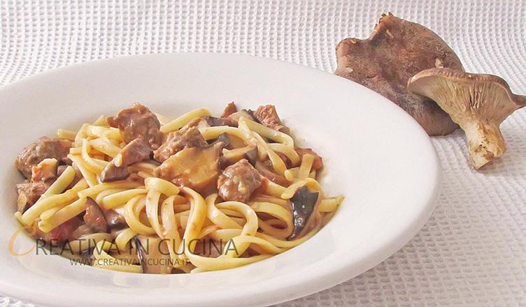 Linguine alla boscaiola con Norcia e funghi Cardoncelli ricetta di Creativa in cucina