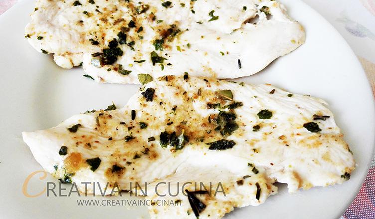 Petto di pollo aromatizzato, con battuto ricetta di Creativaincucina