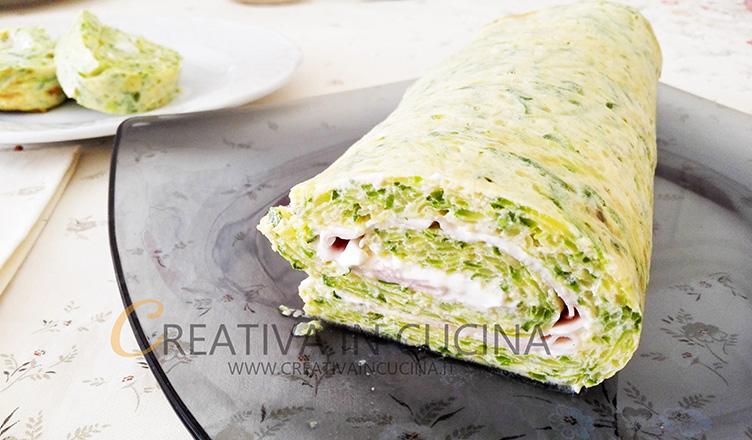 Rotolo gustoso alle zucchine ricetta di Creativaincucina