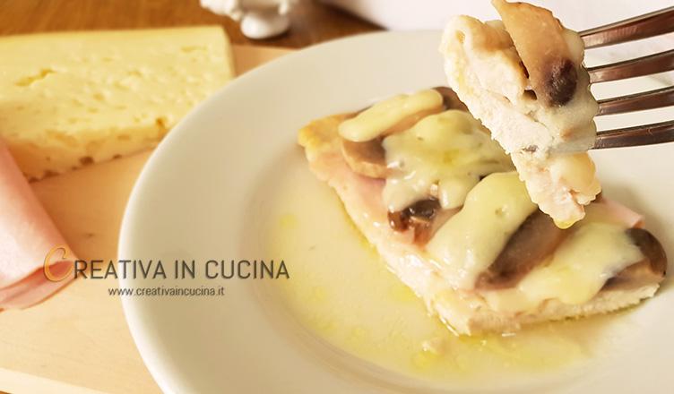 Scaloppine alla boscaiola con petto di pollo in stile Cordon Bleu ricetta di Creativa in cucina
