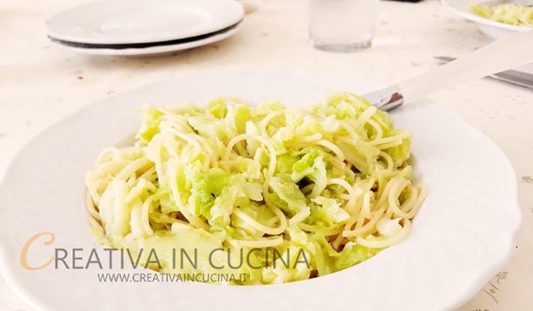 Spaghetti e cavolo verza ricetta di Creativaincucina