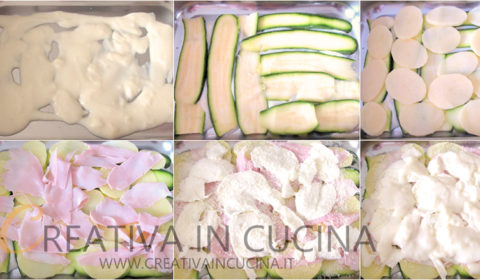 Lasagna di zucchine e patate con besciamella ricetta di Creativaincucina