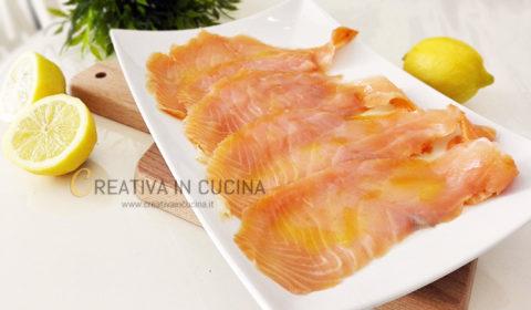 Salmone affumicato marinato