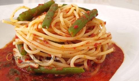 Spaghetti e fagiolini