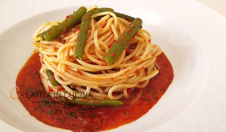 Spaghetti e fagiolini ricetta di Creativa in cucina