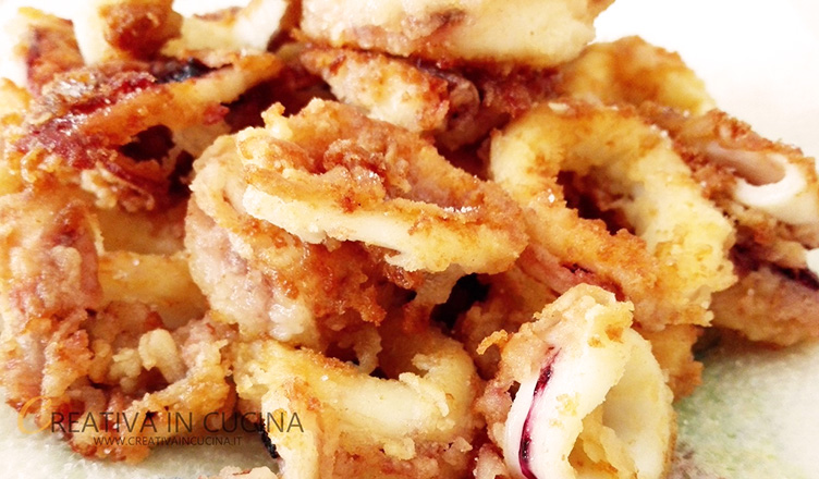 Anelli di calamaro fritti ricetta di Creativaincucina