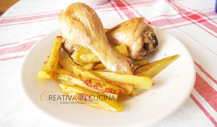 Fusi di pollo arrosto ricetta di Creativaincucina