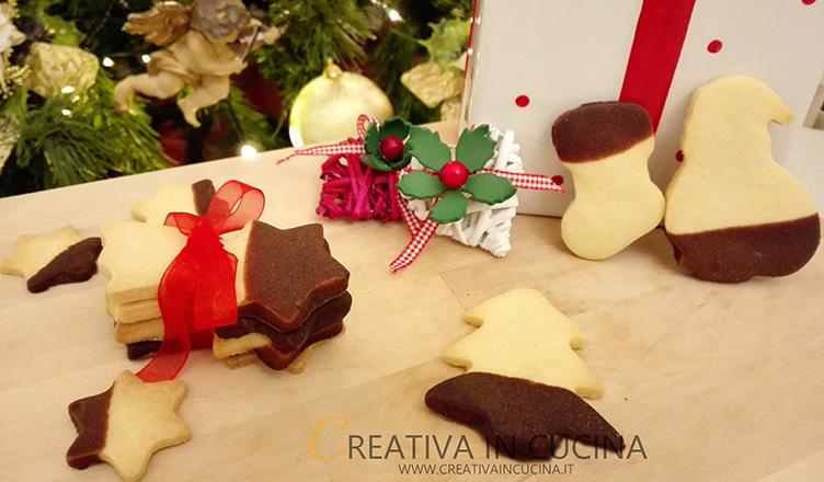 Biscotti al burro, di Natale al cioccolato ricetta di Creativaincucina