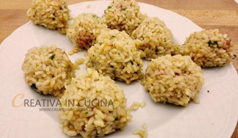 Arancini di riso ai gamberi ricetta di Creativaincucina