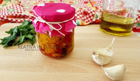 Peperoni tagliati sott'olio ( pric o pràc ) ricetta di Creativaincucina