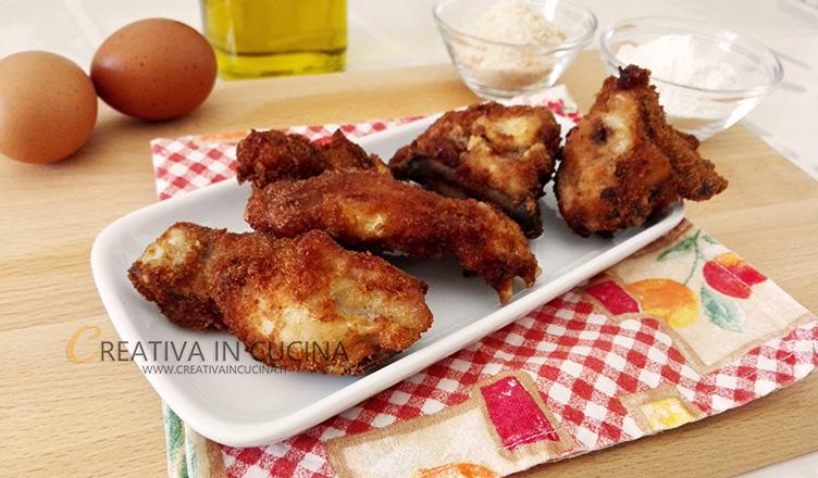 Ali di pollo impanate ricetta di Creativaincucina