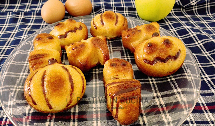Brioche di halloween al cuor di mela - ricetta di Creativaincucina