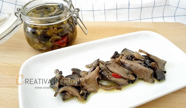 Funghi cardoncelli sott'olio ricetta di Creativaincucina