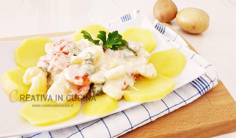 Insalata di verdure con salsa greca ricetta di Creativaincucina