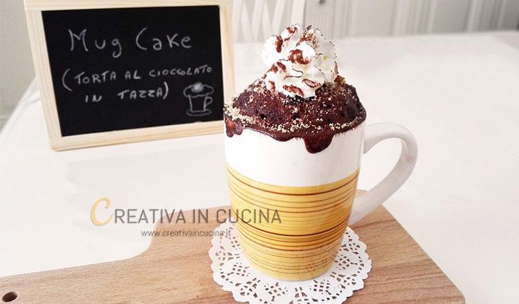 Mug cake torta al cioccolato in tazza ricetta di Creativaincucina