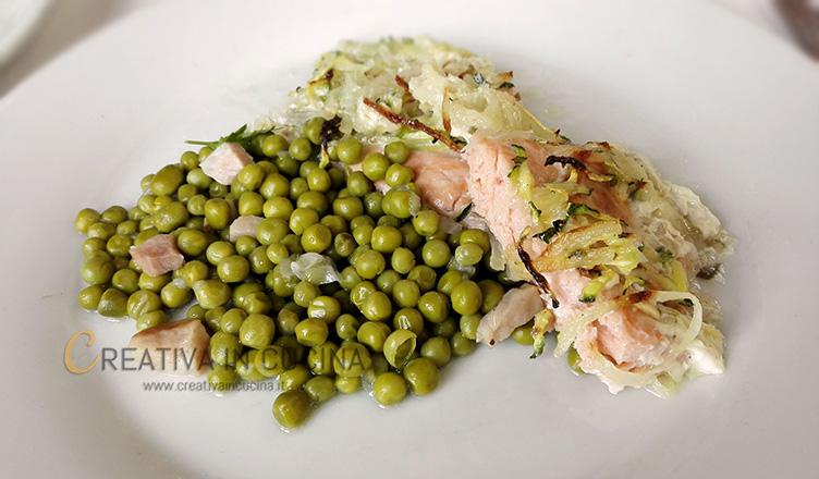 Salmone al forno con verdure ricetta di Creativaincucina