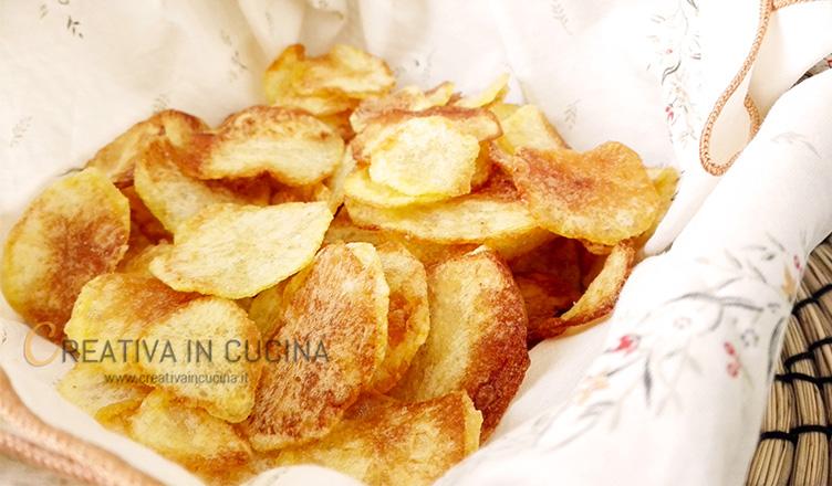 Chips di patate ricetta di Creativaincucina