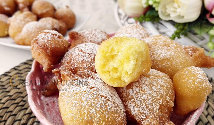 Frittelle morbide al limone ricetta di Creativaincucina