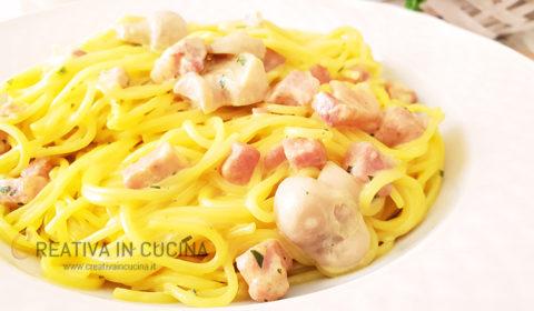Spaghetti robiola e zafferano