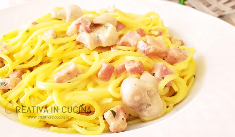 Spaghetti robiola e zafferano ricetta di Creativaincucina