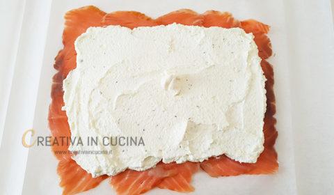 rotolo di salmone e robiola ricetta di creativaincucina