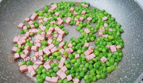 Tripoline ai piselli e robiola ricetta cremosa ricetta di Creativaincucina