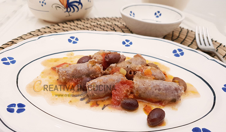 Spezzatino di salsiccia e olive ricetta di Creativaincucina