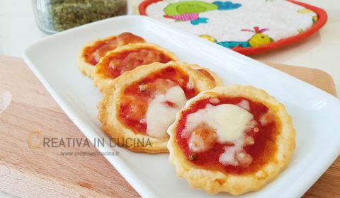 Pizzette di pasta brisèe ricetta facile e veloce