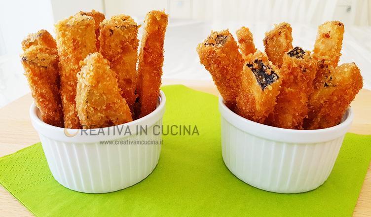 Stick croccanti di melanzana ricetta di Creativaincucina