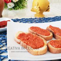 crostini con pesto di pomodori secchi creativaincucina