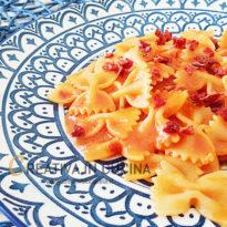 farfalle con pesto di pomodori secchi1 ricetta di Creativaincucina