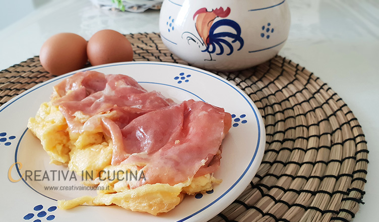 Omelette con mortadella ricetta della nonna di Creativa in cucina