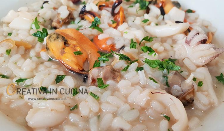 Risotto ai frutti di mare con seppie ricetta di Creativaincucina