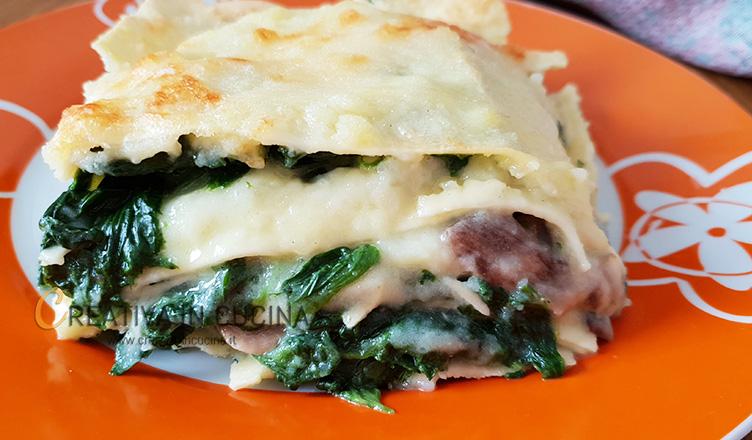 Lasagne con vellutata di patate ricetta di Creativa in cucina