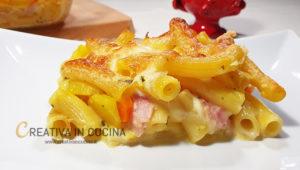 Pasta e patate gratinata al forno