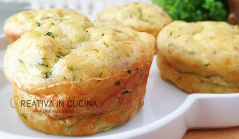 Muffin con tonno e zucchine