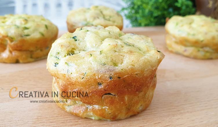 Muffin con tonno e zucchine ricetta di Creativa in cucina