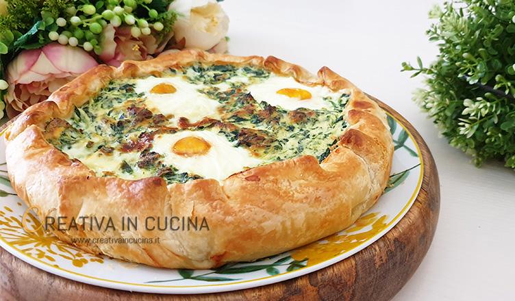 Torta pasqualina a una sfoglia ricetta di Creativa in cucina