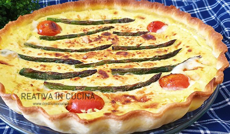 Torta salata agli asparagi ricetta di Creativa in cucina