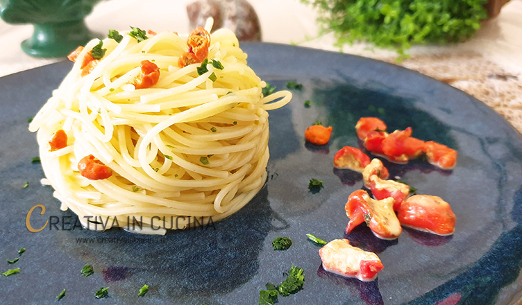 Spaghetti con limoni di mare ricetta di Creativa in cucina