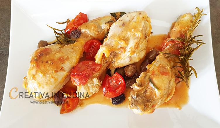 fusi di pollo in umido Creativa in cucina