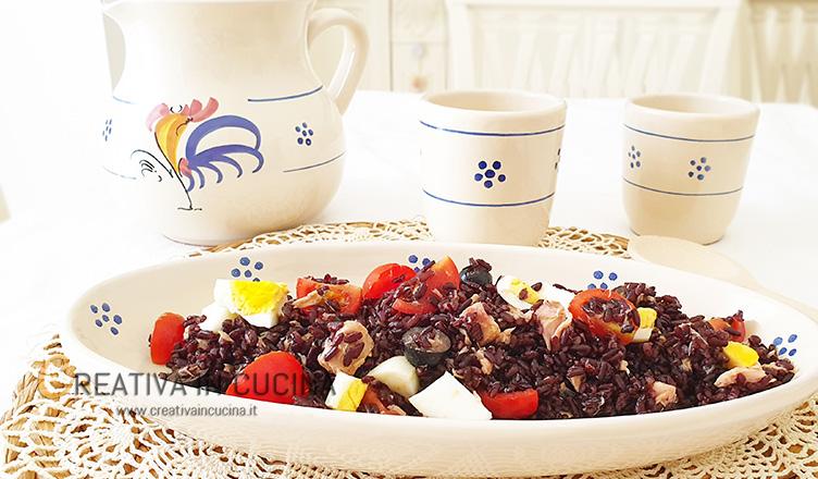 Insalata di riso venere con tonno Creativa in cucina