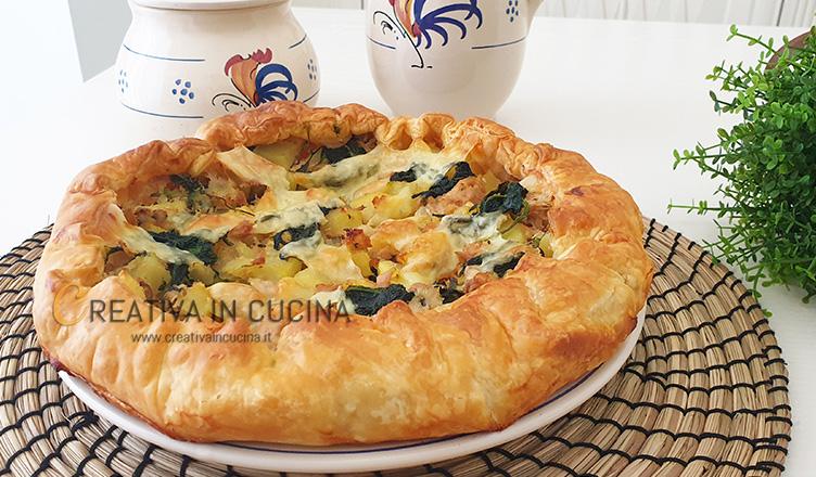 Pizza rustica tonno e spinaci Creativa in cucina