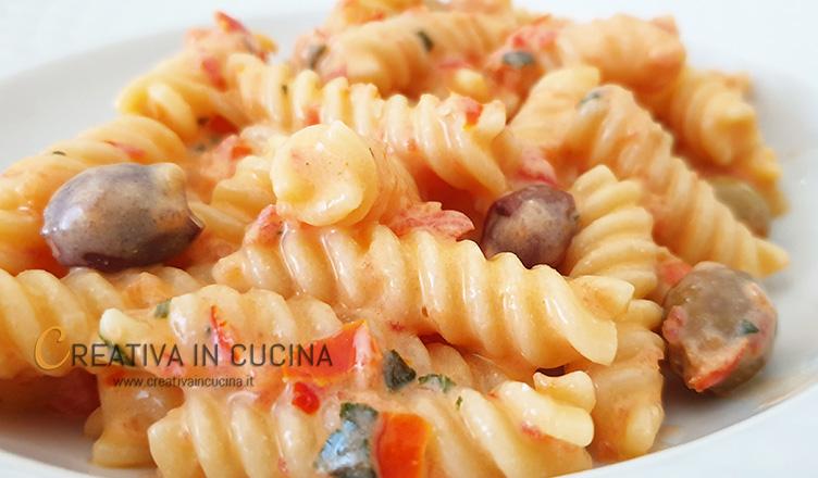 Pasta fredda con ricotta e pomodorini ricetta di Creativa in cucina