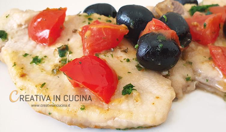 Smeriglio alla mediterranea ricetta di Creativa in cucina