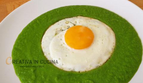 Vellutata di piselli con uovo ricetta di Creativa in cucina