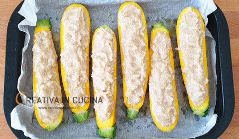 Zucchine gialle ripiene ricetta di Creativa in cucina